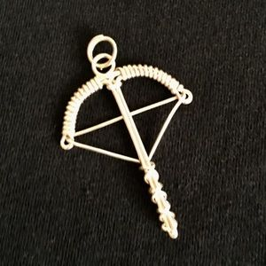 Hand Made Silver Crossbow Charm